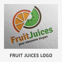Fruit Juices Logo Template