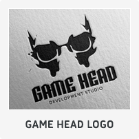 Game Head Logo Template