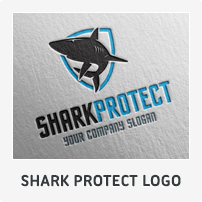 Shark Protect Logo Template