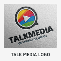 Talk Media Logo Template